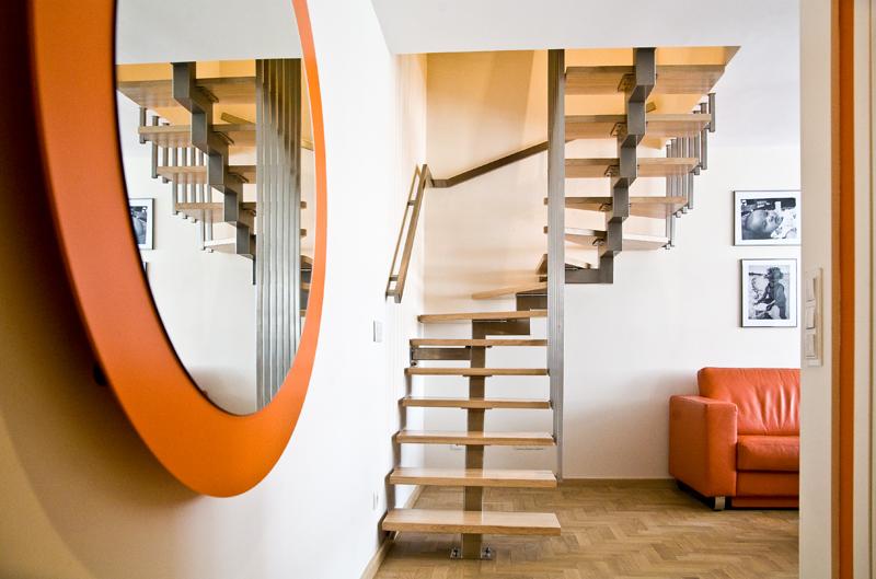 лестница на одном косоуре с забежными ступенями в воронеже